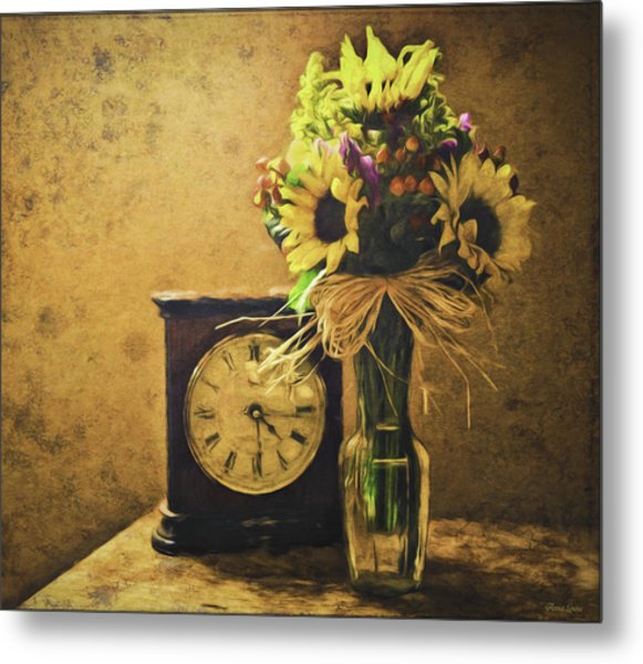 Sunflowers Floral Still Life 3 Metal Print