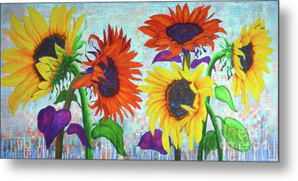 Sunflowers For Elise Metal Print