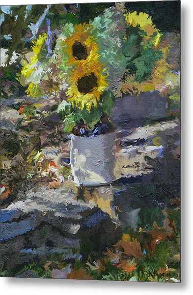 Sunflowers Metal Print by Kenneth Young