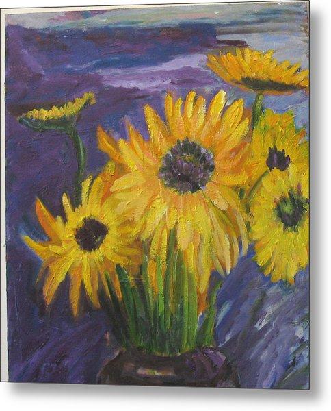 Sunflowers Of My Mind Metal Print