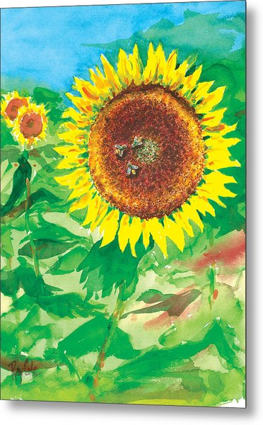 Sunflowers Metal Print by Ray Cole