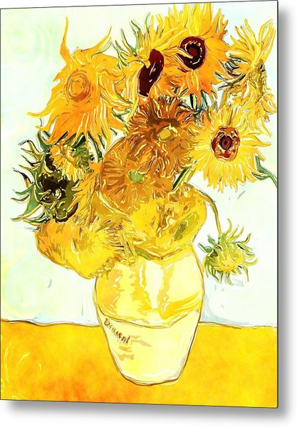 Sunflowers Van Gogh Metal Print
