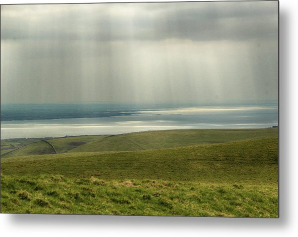 Sunlight On The Irish Coast Metal Print