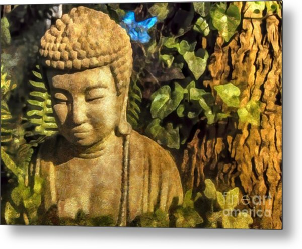 Sunlit Buddha 2015 Metal Print