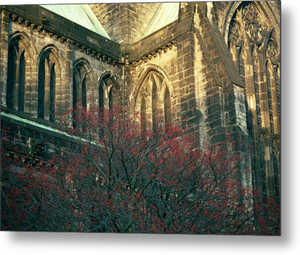 Sunlit Glasgow Cathedral Metal Print