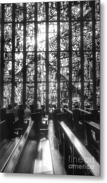 Sunlit Stained Glass At Czestochowa Shrine, Pa Metal Print