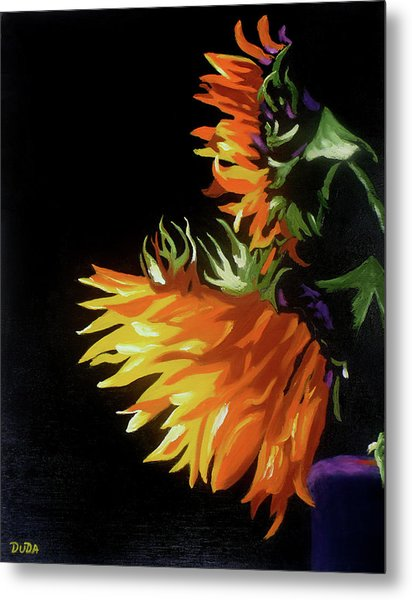 Sunlit Sunflowers Metal Print
