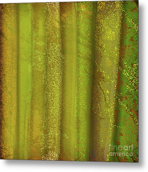 Sunlit Fall Forest Metal Print