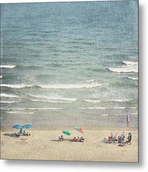 Sunny Day At North Myrtle Beach Metal Print