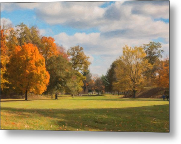 Sunny Day In Autumn Metal Print