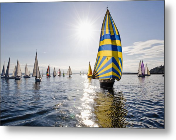 Sunny Day Sailing Metal Print by Tom Dowd