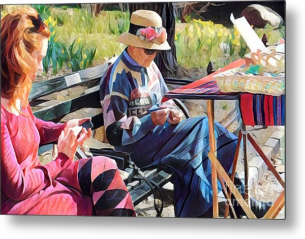 Sunday In The Park - Central Park New York Metal Print by Miriam Danar