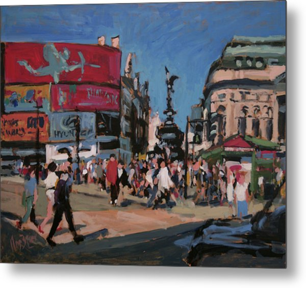Sunny Piccadilly Metal Print