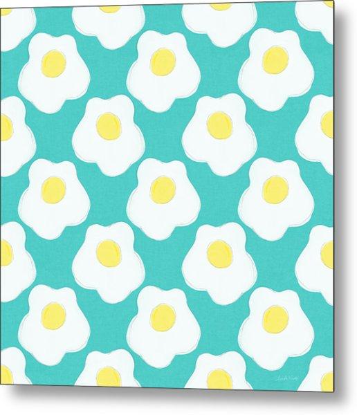 Sunny Side Up Eggs- Art By Linda Woods Metal Print