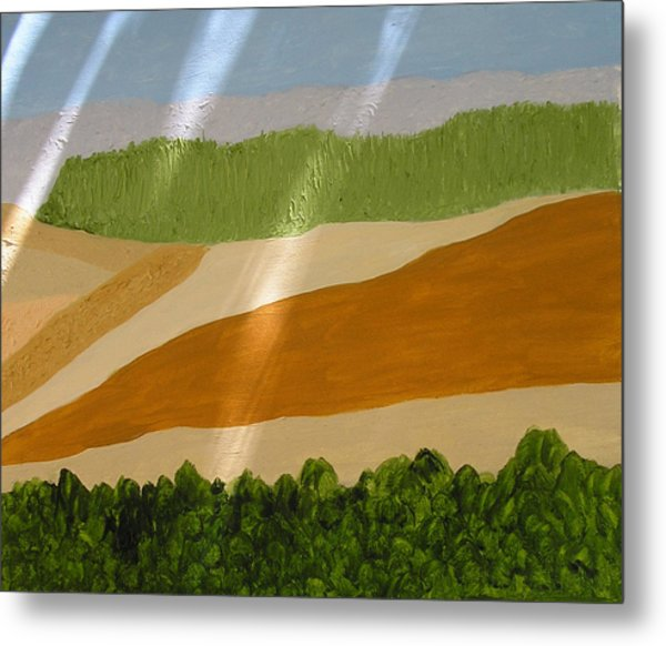 A Vista Of Valleys Metal Print by Harris Gulko