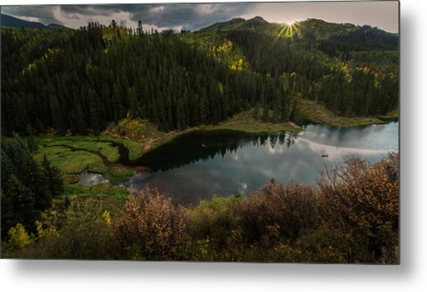 Sunrays Over The Lake Metal Print