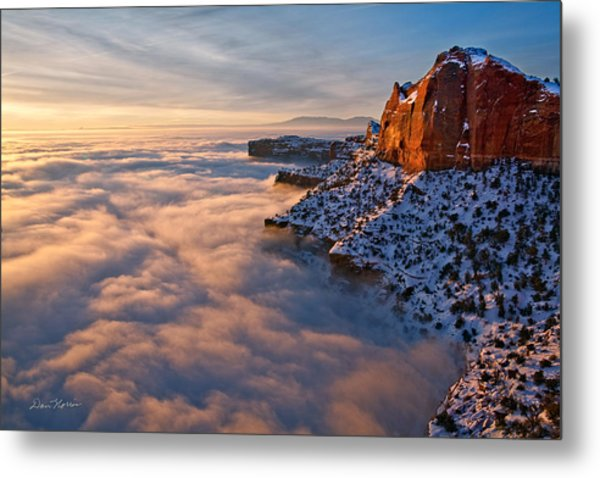 Sunrise Above The Clouds Metal Print
