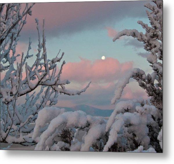 Sunrise And Moon-set Over Lake Boyd Metal Print