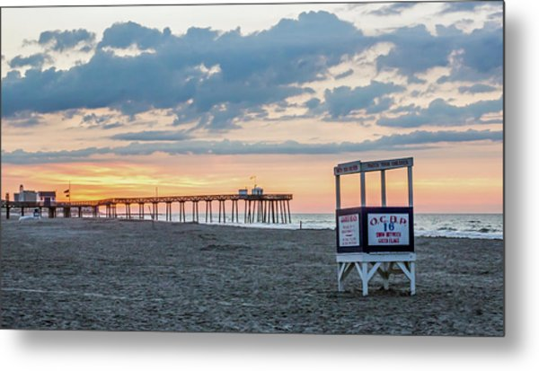 Sunrise At 16th Street Ocean City New Jersey Metal Print