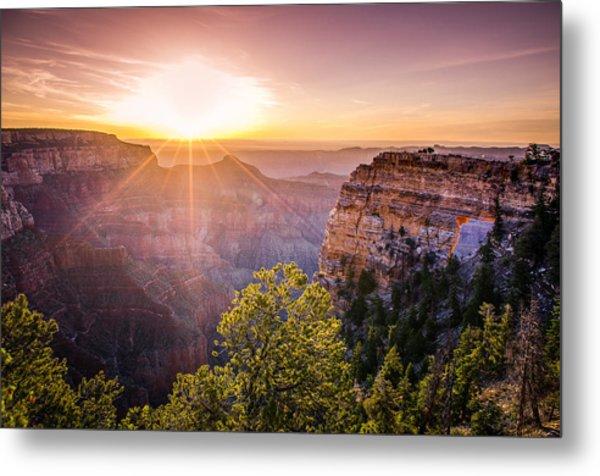Sunrise At Angel's Window Grand Canyon Metal Print
