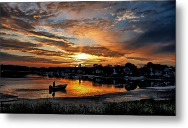 Sunrise At Back Cove Metal Print