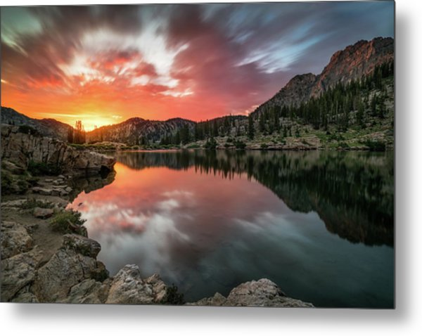 Sunrise At Cecret Lake Metal Print