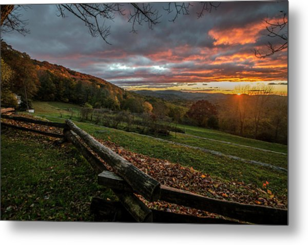 Sunrise At Cone House Metal Print