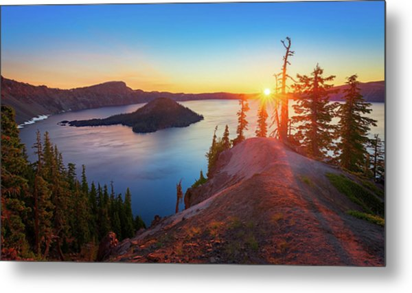 Sunrise At Crater Lake Metal Print
