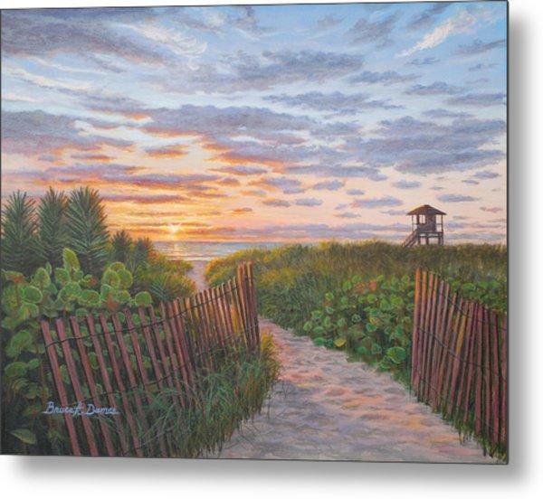 Sunrise At Delray Beach Metal Print by Bruce Dumas