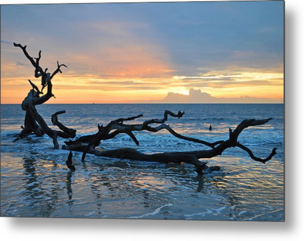 Sunrise At Driftwood Beach 1.4 Metal Print