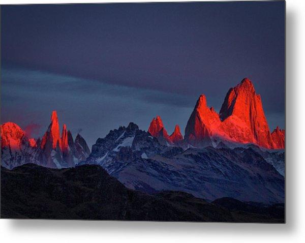 Sunrise At Fitz Roy #2 - Patagonia Metal Print
