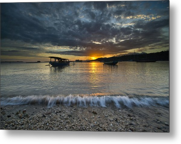 Sunrise At Lombok Metal Print
