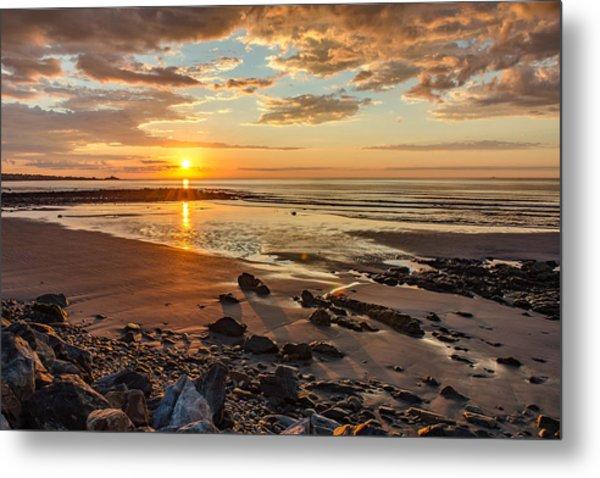 Sunrise At Long Sands Metal Print