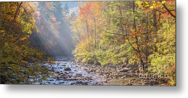 Sunrise At Metcalf Bottoms Metal Print