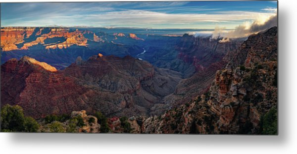 Sunrise At Navajo Point Metal Print