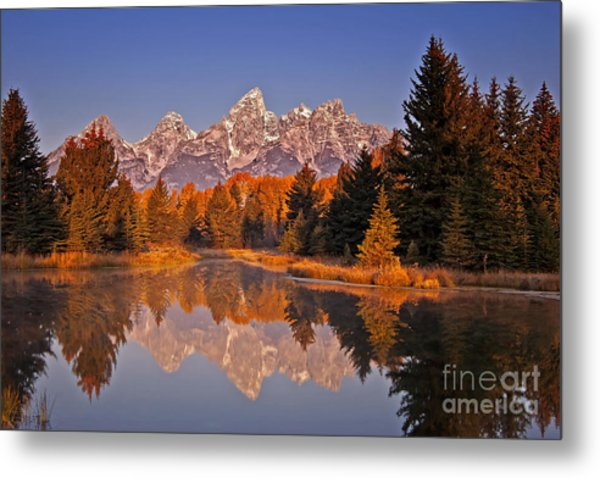 Sunrise At Schwabacher Landing  Metal Print