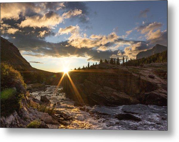 Sunrise // Swiftcurrent, Glacier National Park Metal Print