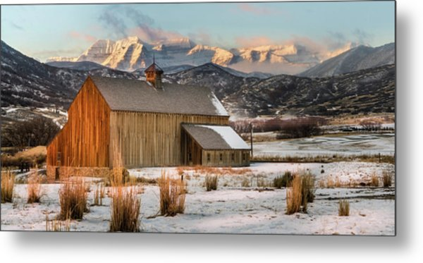 Sunrise At Tate Barn Metal Print