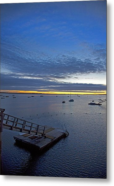 Sunrise At The Barnstable Yacht Club Metal Print