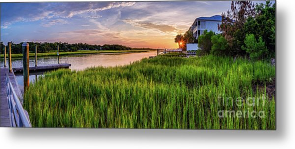 Sunrise At The Boat Ramp Metal Print