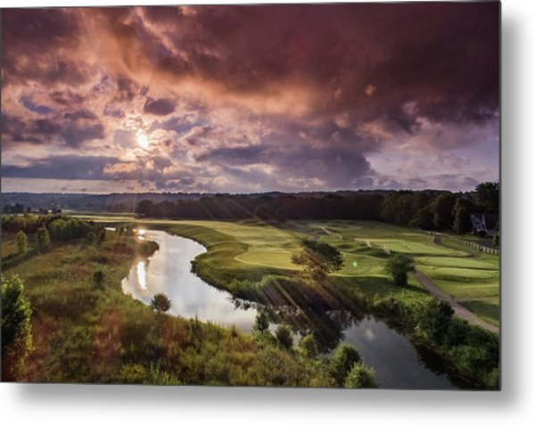 Sunrise At The Course Metal Print