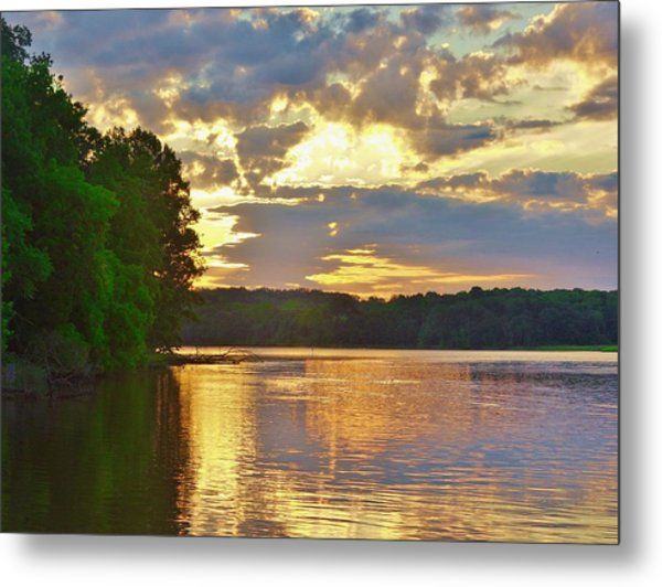 Sunrise At The Landing Metal Print