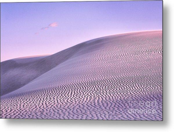 Sunrise At White Sands Metal Print