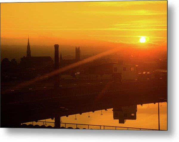 Sunset Belfast Metal Print