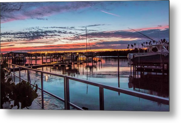 Sunrise Christmas Morning Metal Print
