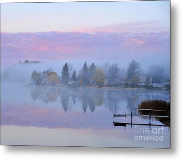 Sunrise Comes To Stoneledge Lake Metal Print