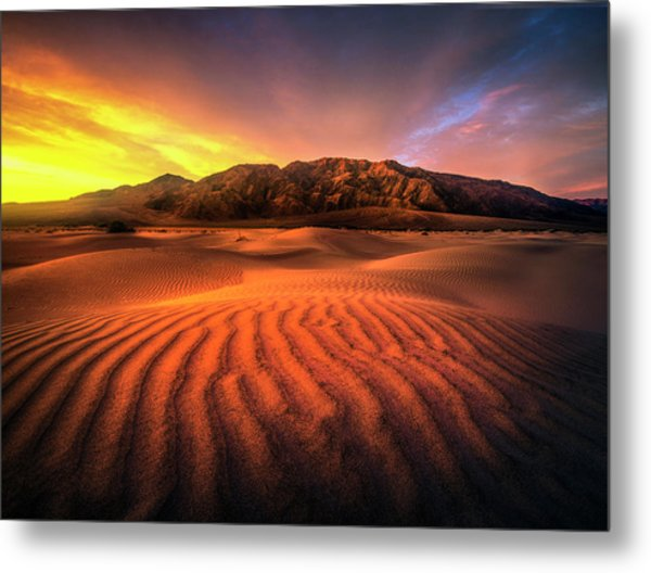 Sunrise-death Valley Metal Print