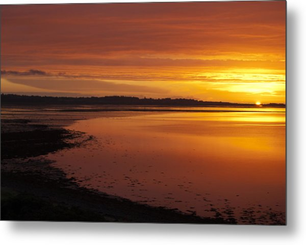 Sunrise Dornoch Firth Scotland Metal Print