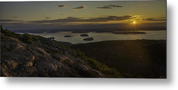 Sunrise From Cadillac Mountain Metal Print