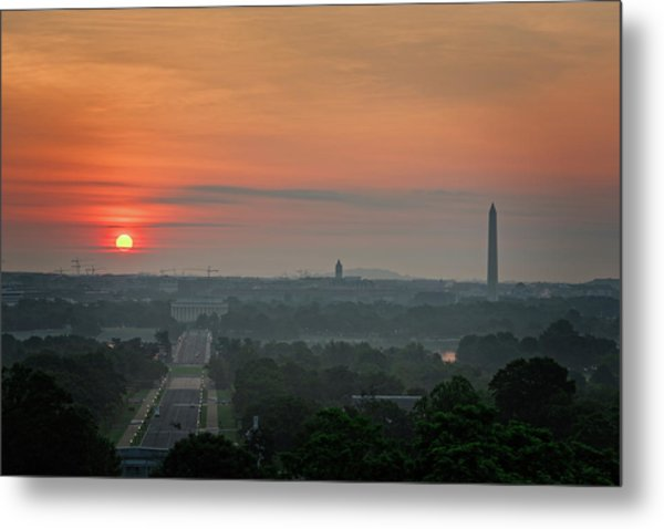 Sunrise From The Arlington House Metal Print